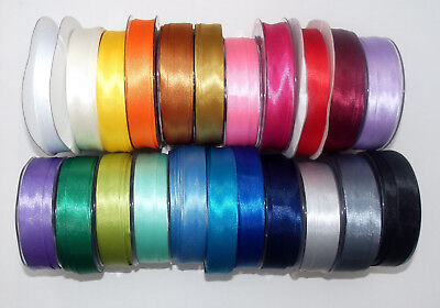 Satin Bias Binding Tape 19mm (3/4 ) Wide Assorted Colours 1m, 3m 5m Lengths • 1.10£