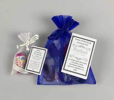 Father Of The Bride Survival Kit ( Wedding Favour Thank You Keepsake Gift ) • 3.25£