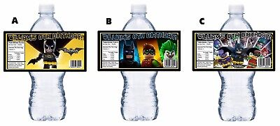 $8.90 • Buy 20 Lego Batman Movie Custom Birthday Party Favors Water Bottle Labels Wrappers