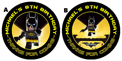 $4.50 • Buy  Lego Batman Personalized Birthday Round Party Stickers Favors ~ Various Sizes