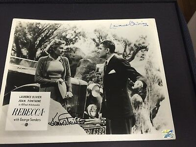 Signed Vintage 1940 Rebecca Laurence Olivier And Joan Fontaine Uacc Reg Dealer • 354.83£