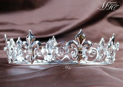 £18.59 • Buy Imperial Medieval Tiara Full Bridal Crown Diamante Headpiece Pageant Party Prom