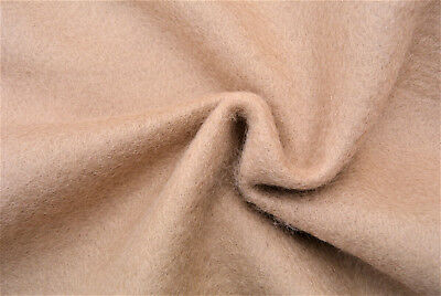 Natural Beige Soft Heavy Melton Luxurious Lambs Wool&cashmere Made In Italy D11 • 6.99£