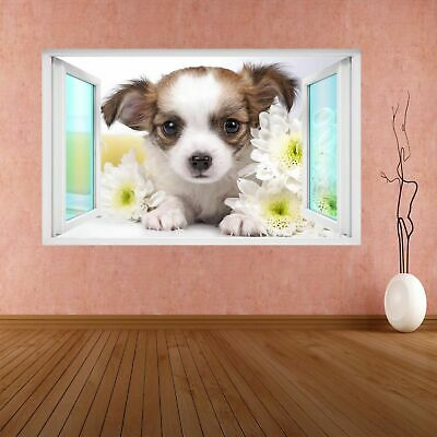£18.99 • Buy Chihuahua Puppy Dog Animal 3D Wall Sticker Mural Decal Poster Kids Room CS66