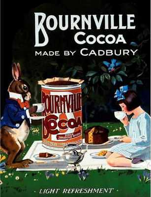 £4.99 • Buy Cadbury Bournville Cocoa Retro Vintage Style Metal Wall Plaque Sign