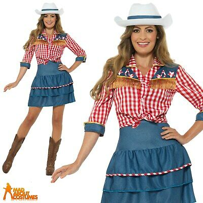 Ladies Rodeo Doll Cowgirl Costume Dolly Parton Fancy Dress Womens Cowboy Outfit • 21.99£