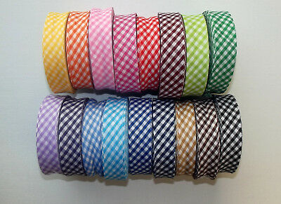 Gingham Bias Binding Tape Polycotton 25mm (1 ) Wide 1 2 3 Or 5 Metre Lengths • 1.30£