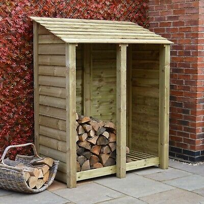Cottesmore 6ft Outdoor Wooden Log Store ***Clearance Stock*** - UK Hand Made • 199.99£