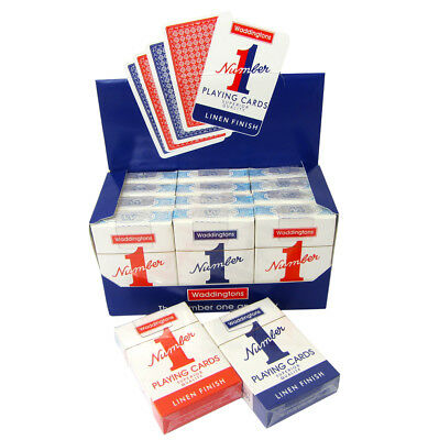 Waddington No1 Classic Playing Cards Decks Of Red & Blue Linen Finish  • 2.29£
