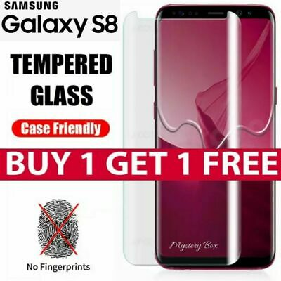 $ CDN6.83 • Buy S8 Full Curved 5D Tempered Glass Screen Protector For Samsung Galaxy S8 - CLEAR