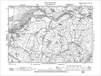 Keswick (E), Old Map Cumberland 1900: 64NE • 17.99£