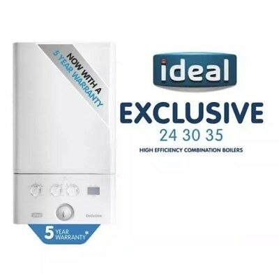 IDEAL Exclusive Independent 24Kw Combi Boiler, H/Flue, Clock & Inhibitor 5YR WTY • 595£