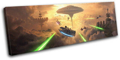 Star Wars Millennium Falcon Gaming SINGLE CANVAS WALL ART Picture Print • 23.99£