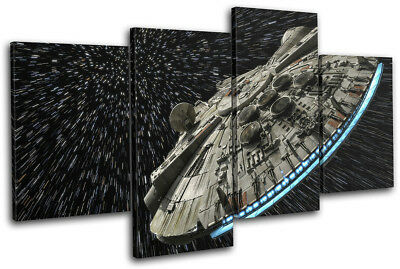 Star Wars Millennium Falcon Gaming MULTI CANVAS WALL ART Picture Print • 31.99£