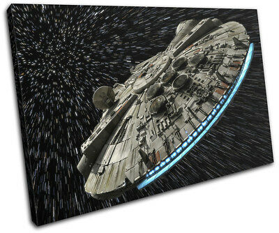 Star Wars Millennium Falcon Gaming SINGLE CANVAS WALL ART Picture Print • 15.99£
