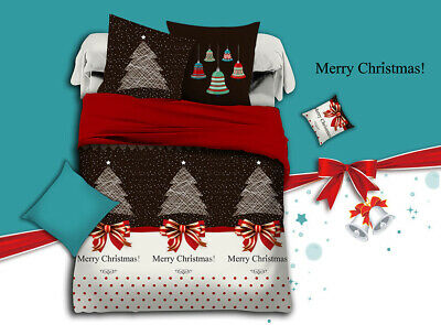 AU59.99 • Buy Merry Christmas Duvet/Doona/Quilt Cover Set Queen/King/Super King Size Bed New