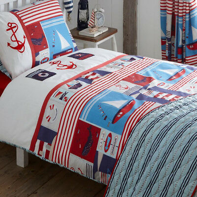 Maritime, Embroidered Nautical King Size Bedding • 14.95£