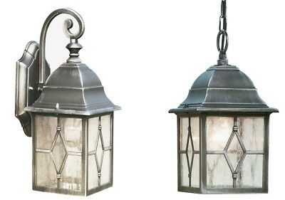 £26.50 • Buy Traditional Style Outdoor Exterior Wall / Hanging Cathedral Glass Lantern Light
