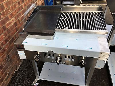 £820 • Buy 3 Burner Gas  Charcoal Grill BBQ Grill Heavy Duty For Commercial Use SS330HPG