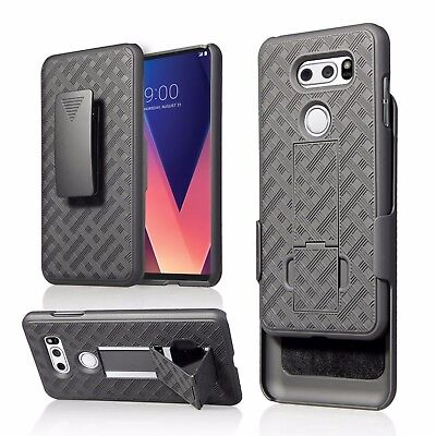 AU11.13 • Buy For 6  LG V30S THINQ V30S+ V30 V30+ PLUS Case Holster 2 Kick Stand Grip Cover