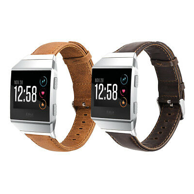 AU18.05 • Buy Genuine Leather Watch Band Wrist Strap For Fitbit Ionic Smart Fitness Watch