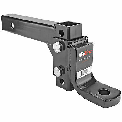 $32.99 • Buy Adjustable Tow Ball Mount Drop Hitch Fits 2  Receiver 6 Positions 5000lb GWT