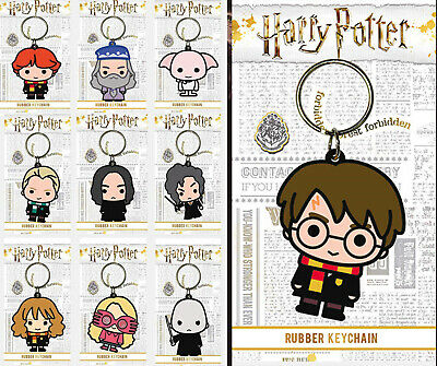 £2.95 • Buy Harry Potter Chibi Keyring Rubber Official Licensed Character Keychain Gift New