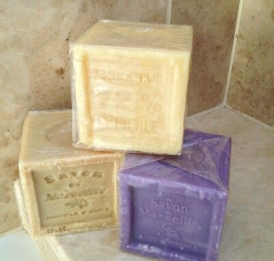French Soap, Savon De Marseille, 300g Cube, Olive Oil Soap, Natural, Lavender • 3.70£