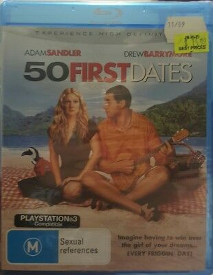 AU15.96 • Buy *New & Sealed* 50 First Dates (Blu-ray, 2006) Adam Sandler Romcom, Reg B AUS