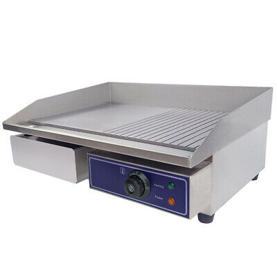 56cm Commercial Electric Griddle Countertop Kitchen Hotplate Stainless Steel 3KW • 98.50£