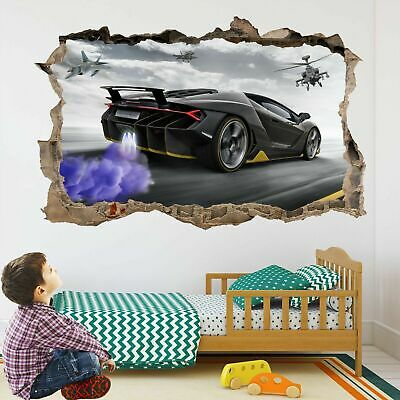 Supercar Sports Car Wall Art Stickers Mural Decal Self-adhesive Poster DG14 • 22.99£