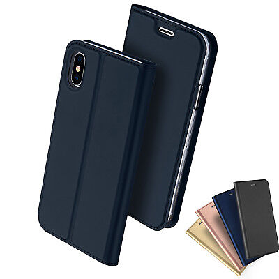 AU11.70 • Buy IPhone X 8 7 PLUS Case Magnetic Flip Leather Wallet Card Slim Case Cover Apple