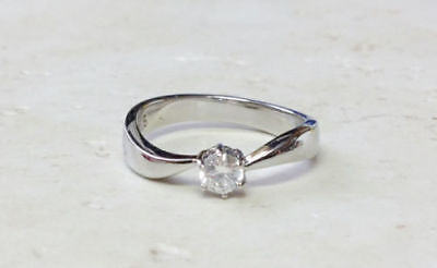 $6.99 • Buy Solitaire CZ Stainless Steel Promise Ring Size 5, 6, 7, 8, 9, 10 (f506)