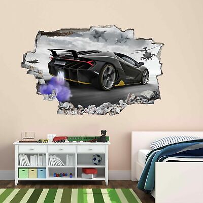 Supercar Sports Car Aircrafts Wall Sticker Mural Decal Self-adhesive Poster DG15 • 22.99£