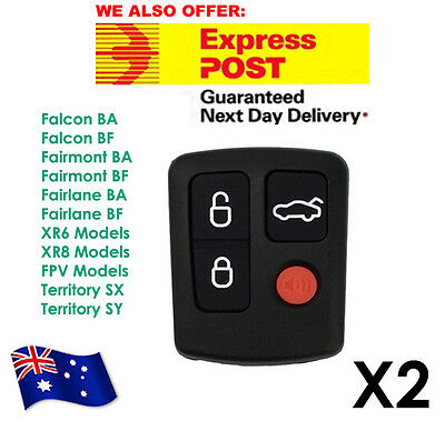 AU15.50 • Buy 2 X For Ford Remote BA/BF Falcon Sedan/Wagon Keyless Car Remote 4 Button Keypad