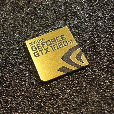 $ CDN4.79 • Buy Nvidia GEFORCE GTX 1080 Ti PC Logo Label Decal Case Sticker Badge GOLD [427f]