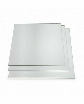 Silver Acrylic Mirror Perspex Sheet Plastic Material Panel Cut To Size  • 13.75£