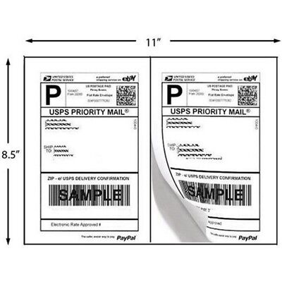 $7.90 • Buy SUPERIOR Quality Mailing Shipping Labels 8.5x5.5 Half Sheet Self Adhesive BLANK