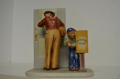 $ CDN25.95 • Buy Norman Rockwell  Spring Closed For Business   Gorham Porcelain Figurine 1960 8