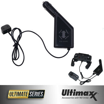 AU11.87 • Buy DJI Spark Car Charger With USB Connector For DJI Spark Batteries By ULTIMAXX New