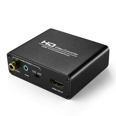 HDMI To DVI Converter Audio Sound Adapter 3.5mm AUX Jack 2 RCA Coaxial Output • 22.87$