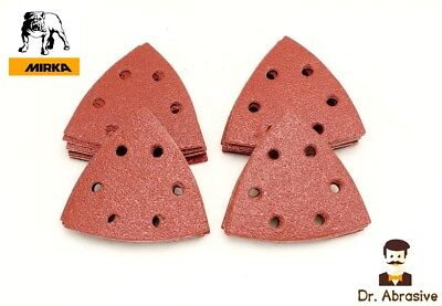 Triangle Delta Sanding Pads Sheets Palm 93mm Mouse Hook And Loop Sandpaper 90 • 3.99£