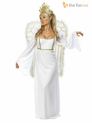 £37.10 • Buy Adult Ladies Deluxe Angel Costume +Wings Womens Christmas Fancy Dress Outfit