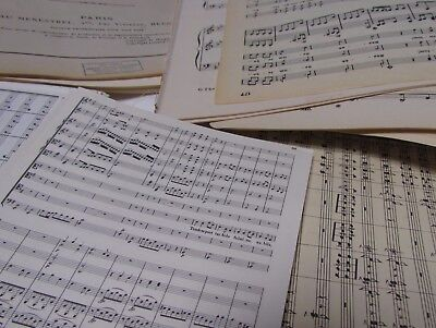 £3.99 • Buy 100g  Vintage Sheet Music Paper, Decoupage, Art Projects, Crafting, Shabbychic