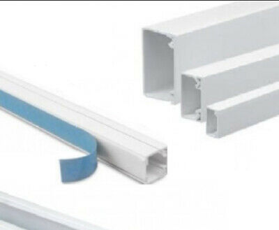£10.79 • Buy Electrical Cable Mini Trunking Conduit Plastic Wire White Brown 25 16 18 9 Mm