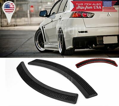 $18.04 • Buy Pair Matt Black Evo 10 Side Grill Grills Fender Flare Vent Cover For Mitsubishi