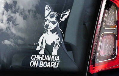 £2.99 • Buy CHIHUAHUA Car Sticker, Smooth Coat Dog Window Bumper Sign Decal Gift Pet - V01