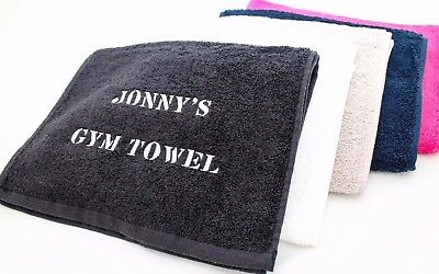EMBROIDERED PERSONALISED LUXURY SPORTS Fitness Gym TOWEL 30x100 Gift Or Business • 7.45£
