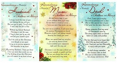 In Loving Memory Christmas Graveside Memorial Grave Card Family And Friends  • 2.99£