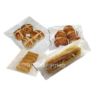 £4.60 • Buy Clear Film Fronted Paper Bags For Cakes, Sandwiches, Sweets, Bakery, Pastries